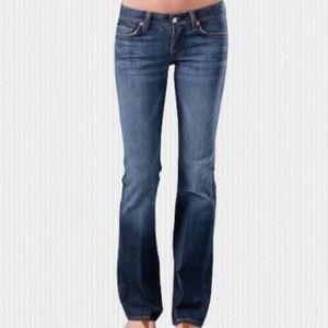 7 For All Mankind Flint Medium Blue Bootcut Jeans 27